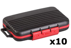 10 Red Memory Card Storage Carry Waterproof Shockproof Case Holder For CF/SD/TF