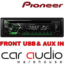 Pioneer DEH-S100UBG USB CD MP3 AUX 1 RCA Car Stereo Radio Player Green Display