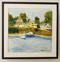 MORRIS BLACKBURN  (1902 - 1979) Original SIGNED WATERCOLOR PAINTING on Arches