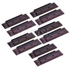 10pcs Rosewood Bridge Slotted With Abalone Dot Inlay for 4 String Ukulele Parts