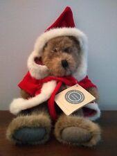 "13"" 1994 Vintage Boyds Bears Santa Teddy Bear Doll Hooded Christmas Robe coat"