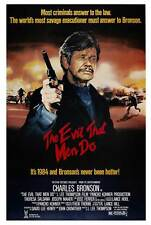 THE EVIL THAT MEN DO Movie POSTER 27x40 UK Charles Bronson Theresa Saldana