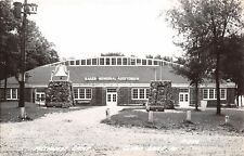 Clear Lake IA Big Bell Tolls for Chapel @ Methodist Church Camp RPPC c1950