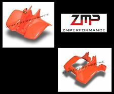 NEW SUZUKI LT50 84 - 87 QUADRUNNER PLASTIC ORANGE FRONT AND REAR FENDER SET