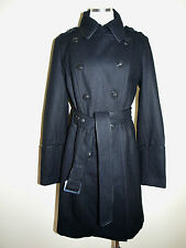 Express Wool Blend Military Style Belted Trench Coat For Women Sz M NWoT $198