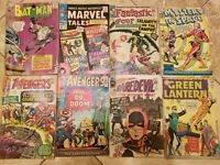 Low Grade Silver Age Comic Lot - Key Issues - Batman, Avengers, Daredevil & more