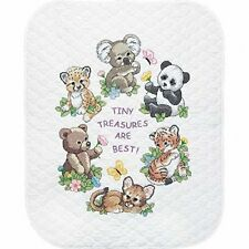 Dimensions Baby Animals Stamped Cross Stitch Quilt Multi-colour