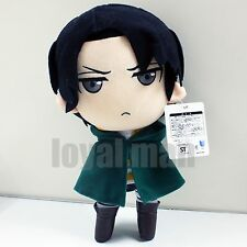 "12"" Levi Plush Doll New Attack On Titan Rivaille Soft stuffed Toy Cool grey eyes"