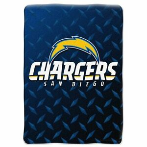 SAN DIEGO CHARGERS NFL SOFT PLUSH NORTHWEST THROW BED BLANKET TWIN / FULL SIZE