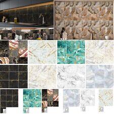 Pack of 10 Tile Stickers Wall Kitchen Bathroom Floor Sticker Vinyl Decal Decor