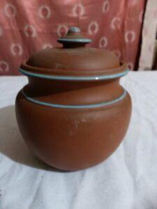 Vintage Terracotta Tobacco Jar
