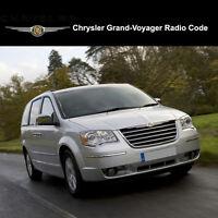 Chrysler Grand-Voyager Radio Codes Stereo Codes Pin  Unlock Code Fast Service