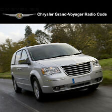 Chrysler Grand-Voyager Radio Codes Stereo Codes Pin  Unlock Code Fast Service