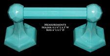 Westite Blue Milk Glass Bathroom Toliet Paper Roll Fixture - RARE