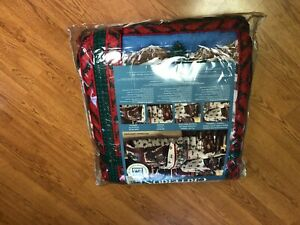 Queen Criterion Bed in a Bag Victorian Christmas comforter sheets cases Bedskirt