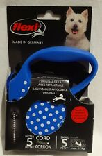Flexi Dog Lead - 5m Retractable Cord Leash - Small Dog up to 12kg - Brand New