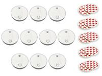10x Rauchmelder inkl. Batterien & Magnethalterung   Feuermelder Rauchwarnmelder