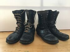 2 Pairs US Military Jump Boots International Shoe Co 1956 10.5 W Motorcycle Vtg