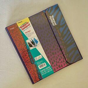 Trapper Keeper Leopard Animal Binder Retro 80s 90s Portfolio Folder Mead NEW