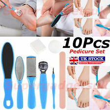 10 x Professional Pedicure Kit Rasp Foot File Callus Remover Set Nail Care Tools
