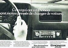 PUBLICITE ADVERTISING 027  1980   Pioneer  autoradio  KEX-23 (2p) combiné radio