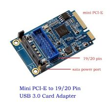 Mini PCI Express to Dual USB 3.0 Ports 19-pin Expansion Card Adapter High