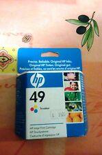 cartuccia HP 49 inchiostro originale tricolor Deskjet 350c 660c 670c ecc
