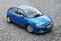1/18 Scale Citroen C-Quatre 2012 Blue Diecast Car Model Toy Collection Gift