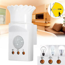 E27 PIR Infrared Sensor Motion Detector LED Light Lamp Holder Control Switch