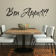 Bon Appetit Quote Kitchen Dining Room Wall Sticker Vinyl Decal Home Decor Mural