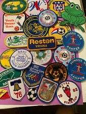 LOT 25 VINTAGE PATCHES SOCCER GIRL SCOUTS BICENTENNIAL FITNESS MUNCHEN 1970S-80S
