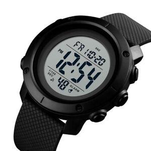 US Waterproof Men's Boy LCD Digital Stopwatch Date Rubber Sport Wrist Watch
