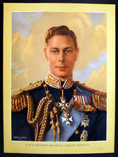 HIS MAJESTY KING GEORGE VI 1945 Dorothy Wilding UK POSTER H
