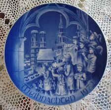BAREUTHER BAVARIA GERMANY CHRISTMAS PLATE, WEIHNACHTEN 1972