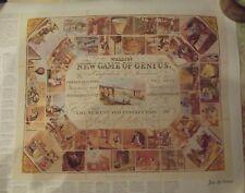 Ancien Jeu de L'OIE ,Jeu du GÉNIE  1843 ; 66 x 54 cm Fac-Similé