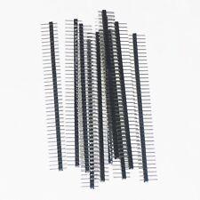 Kit 6 Connettori strip line 40 poli Maschio passo 2,54mm  Arduino Connettore