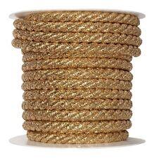 Kordel Ø 10 mm gold 10 Meter Dekoband Medaille Kordelband Band Zierkordel