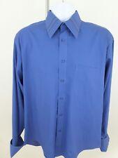 "Men's Blue Dress Shirt Size 15 1/2""×34/35"" Giorgio Ferraro French Cuff."