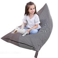 Children's Pyramid Shape Bean Bag Chair Gaming Large Kids Beanbag Gamer Highback