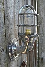 SUPERB RETRO POLISHED ALUMINIUM SHIPS BULKHEAD CAGE LIGHT WALL LIGHT SHIP LAMP B
