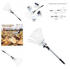 Adjustable Leaf Rake Portable Telescopic Agriculture Garden Tools Accessories
