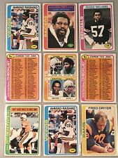 🏈🏈(20) 1978 Topps Football Lot with STARS Rashad Dryer Williams MORE+🏈🏈