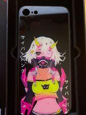 Unused new premium anime phone case iPhone 8 glow in the dark anime girl with h