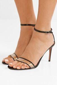 Aquazzura leather and PVC sandal
