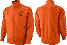 Men's NIKE DUTCH Team Football Jacket Full Zip Orange Color Size S - BNWT