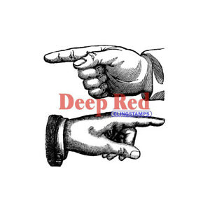 Deep Red Stamps Point the Way Rubber Cling Stamp
