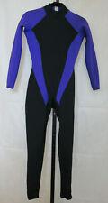 Gladiator FULL BODY Neoprene WETSUIT Water Sports SZ 8  Back Zip Blue Purple