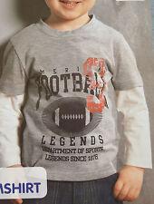Jungen Langarmshirt Shirt 74 / 80 grau Football Legends Neu!!!