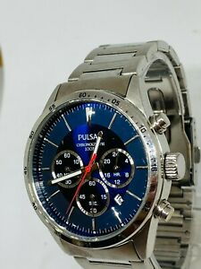 PULSAR MEN'S STAINLESS STEEL CHRONOGRAPH WATCH VD53-X001