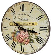 style ancienne horloge pendule ronde 34c murale de cuisine salon d entrée bureau